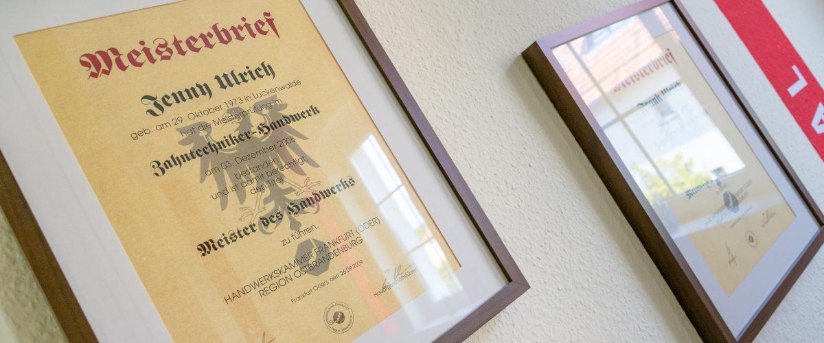 Meisterbrief Jenny Ulrich Jüterbog